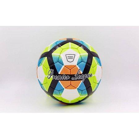 Мяч футбольный №5 DX PREMIER LEAGUE FB-5423-2 (№5, 5 сл., сшит вручную, белый-салатовый-зеленый)