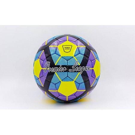 Мяч футбольный №5 DX PREMIER LEAGUE FB-5423-3 (№5, 5 сл., сшит вручную,желты-фиолетовый-синий)