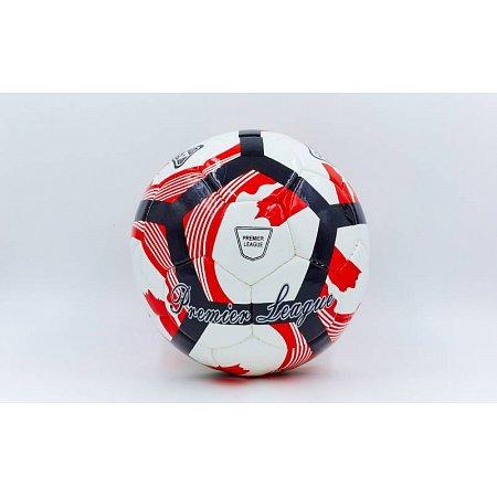 Мяч футбольный №5 DX PREMIER LEAGUE FB-5423-5 (№5, 5 сл., сшит вручную, белый-красный-черный)