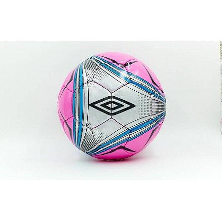 Мяч футбольный №5 DX Umbro FB-5425-2 (№5, 5 сл., сшит вручную, розовый-серый)
