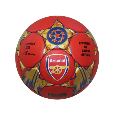Мяч футбольный №5 Гриппи 5сл. ARSENAL FB-0047-3678 (№5, 5 сл., сшит вручную)