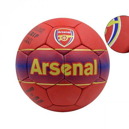 Мяч футбольный №5 Гриппи 5сл. ARSENAL FB-0047A-452 (№5, 5 сл., сшит вручную)