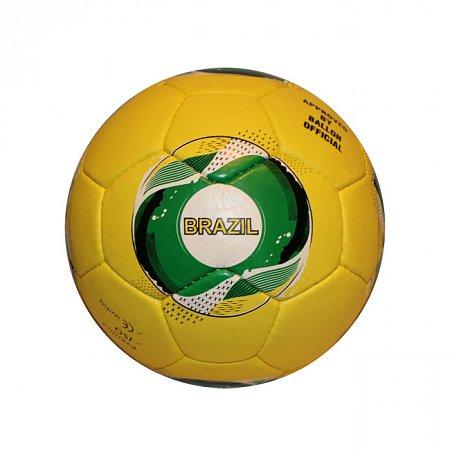 Мяч футбольный №5 Гриппи 5сл. BRAZIL FB-0047-3554 (№5, 5 сл., сшит вручную)