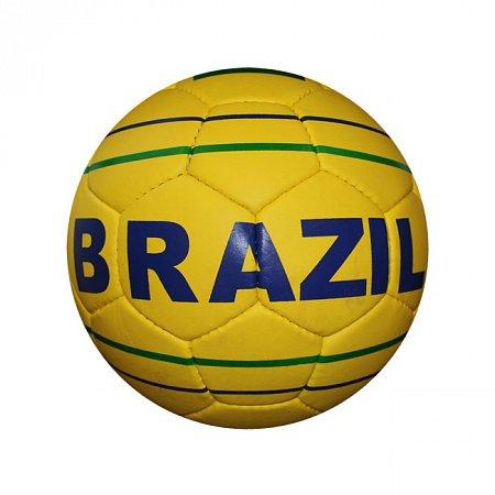 Мяч футбольный №5 Гриппи 5сл. BRAZIL FB-0047-3683 (№5, 5 сл., сшит вручную)