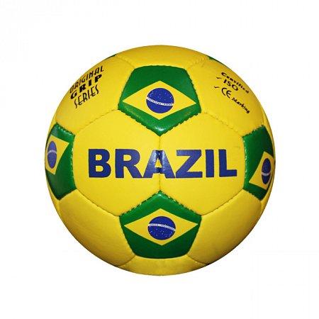 Мяч футбольный №5 Гриппи 5сл. BRAZIL FB-0047-3686 (№5, 5 сл., сшит вручную)