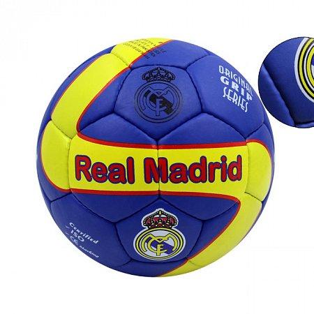 Мяч футбольный №5 Гриппи 5сл. REAL MADRID FB-0047R-444 (№5, 5 сл., сшит вручную)