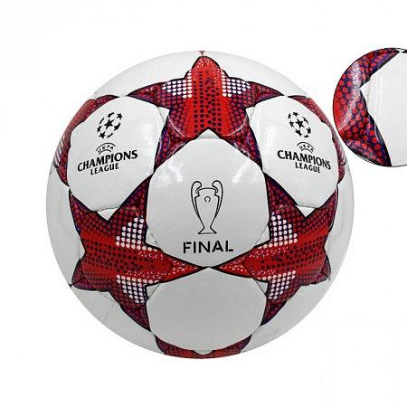 Мяч футбольный №5 PU ламин. CHAMPIONS LEAGUE FB-4644 (№5, 5 сл., сшит вручную)