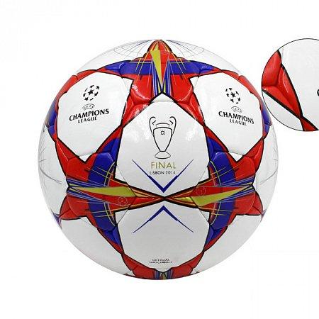 Мяч футбольный №5 PU ламин. CHAMPIONS LEAGUE FB-4648 (№5, 5 сл., сшит вручную)