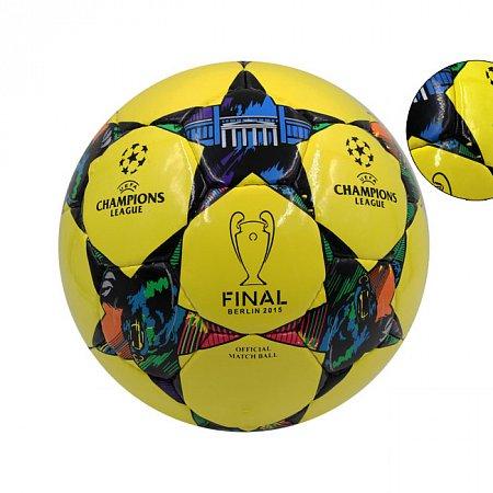 Мяч футбольный №5 PU ламин. CHAMPIONS LEAGUE FB-4651 (№5, 5 сл., сшит вручную)
