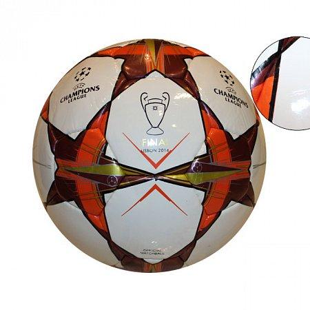 Мяч футбольный №5 PU ламин. CHAMPIONS LEAGUE HX-07 (№5, 5 сл., сшит вручную)