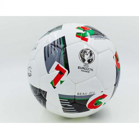 Мяч футбольный №5 PU ламин. EURO-2016 FB-5214 (№5, 5 сл., сшит вручную)