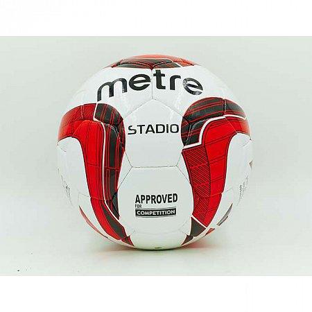 Мяч футбольный №5 PU ламин. METRE T-1012 (№5, 5 сл., сшит вручную)