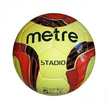 Мяч футбольный №5 PU ламин. METRE T-1075 (№5, 5 сл., сшит вручную)