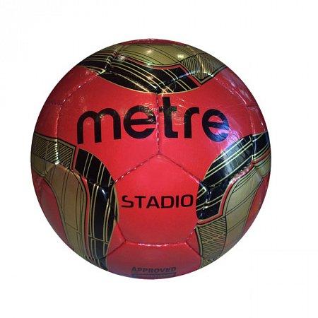 Мяч футбольный №5 PU ламин. METRE T-1076 (№5, 5 сл., сшит вручную)