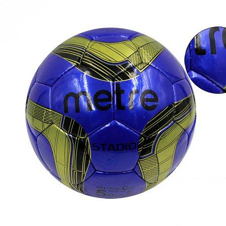 Мяч футбольный №5 PU ламин. METRE T-1077 (№5, 5 сл., сшит вручную)