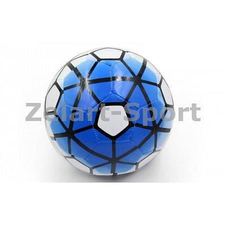 Мяч футбольный №5 PU ламин. Сшит машинным способом FB-4910-B PREMIER LEAGUE (№5, 5сл.,голубой-белый)