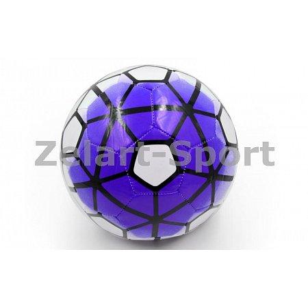 Мяч футбольный №5 PU ламин. Сшит машинным способом FB-4910-V PREMIER LEAGUE (№5, 5сл.,фиолет.-белый)