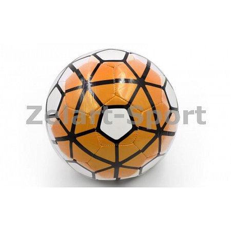 Мяч футбольный №5 PU ламин. Сшит машинным способом FB-4910-Y PREMIER LEAGUE (№5, 5сл., оранж.-белый)