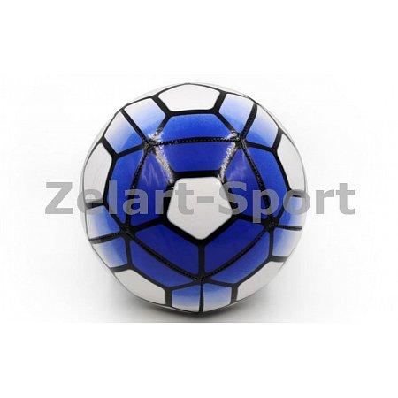 Мяч футбольный №5 PU ламин. Сшит машинным способом FB-4911-B PREMIER LEAGUE (№5, 5сл.,голубой-белый)
