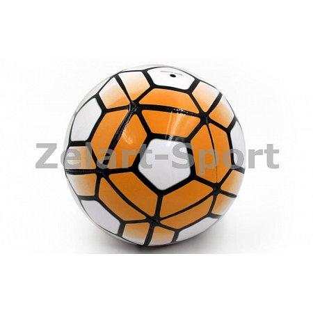 Мяч футбольный №5 PU ламин. Сшит машинным способом FB-4911-OR PREMIER LEAGUE (№5, 5сл., оранж-белый)