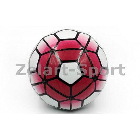 Мяч футбольный №5 PU ламин. Сшит машинным способом FB-4911-P PREMIER LEAGUE (№5, 5сл.,малинов-белый)