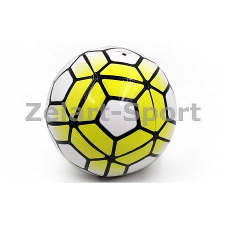 Мяч футбольный №5 PU ламин. Сшит машинным способом FB-4911-Y PREMIER LEAGUE (№5, 5сл., желтый-белый)