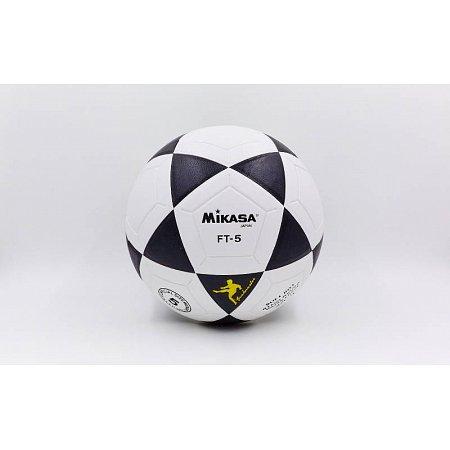 Мяч футбольный №5 PVC ламин. Клееный MIKASA FB-5697 (№5, черный-белый)