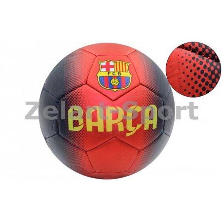 Мяч футбольный №5 PVC матовый Сшит машинным способом FB-4517-BAR BARCELONA (№5, 5сл.)