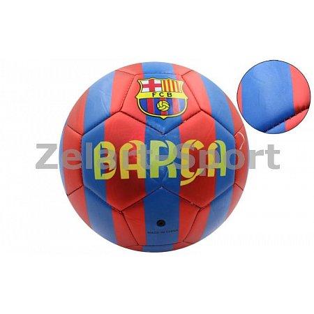 Мяч футбольный №5 PVC матовый Сшит машинным способом FB-4529-BAR BARCELONA (№5, 5сл.)