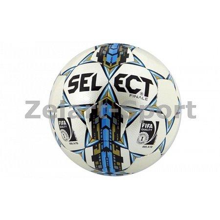 Мяч футбольный №5 SELECT FINALE (FIFA INSPECTED) (белый-голубой-золотой)