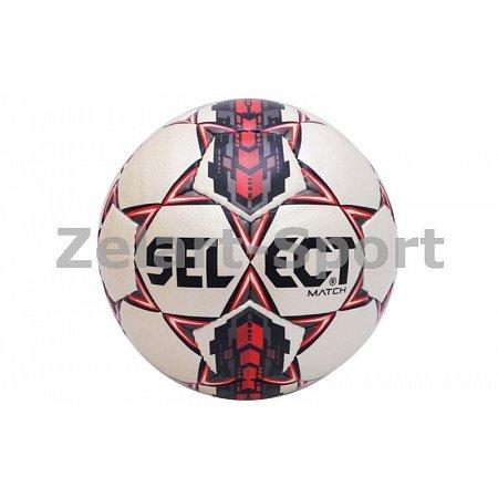 Мяч футбольный №5 SELECT MATCH (белый-серый-красный)