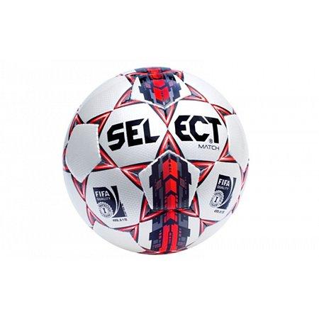 Мяч футбольный №5 SELECT MATCH (FIFA INSPRENTO) (белый-серый-красный)