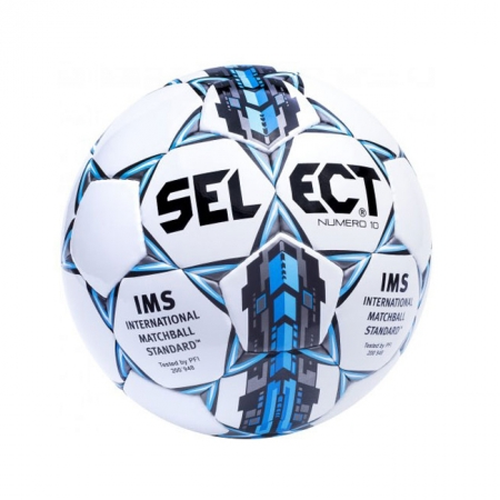 Мяч футбольный №5 SELECT NUMERO-10-FIFA(W)-D Club matches and training (FPUS 1500, бел-сер-голуб.)