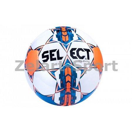 Мяч футбольный №5 SELECT TALENTO(WOR) (белый-синий-оранжевый)