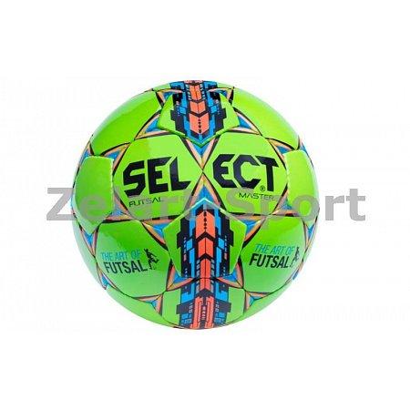 Мяч футзальный №4 SELECT FUTSAL MASTER(G) (зеленый-синий-оранжевый)