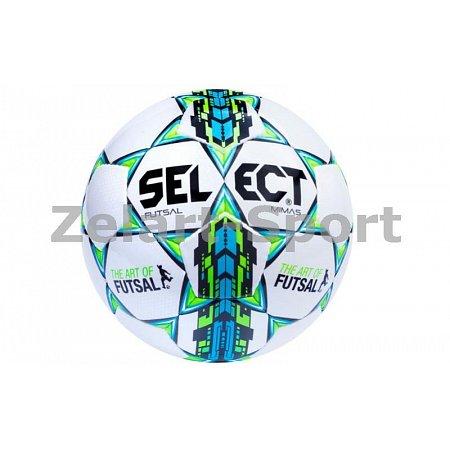 Мяч футзальный №4 SELECT FUTSAL MIMAS(W) (белый-синий-зеленый)