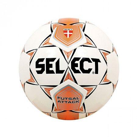 Мяч футзальный №4 SELECT FUTSAL Z-ATTACK-14 Club training (FPUS 1100, белый-оранжевый-черный)