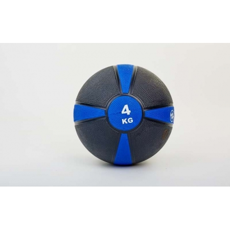 Мяч медицинский (медбол) FI-5122-4 4кг (резина, d-21,5см, черный-синий)