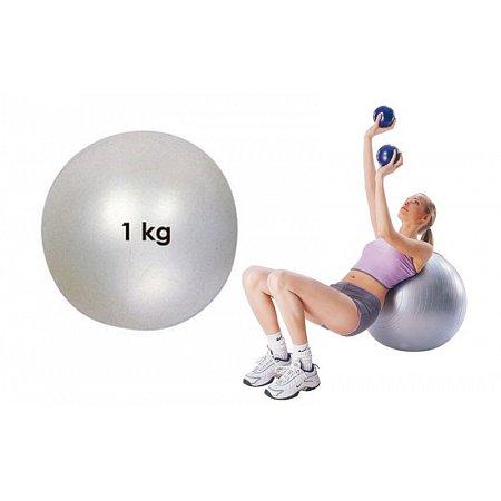 Мяч медицинский (медбол) PS FI-021-1 1кг (верх-резина, наполнитель-песок, d-12см, серый)