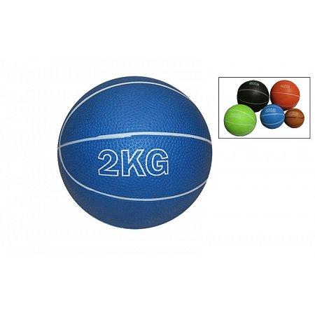 Мяч медицинский (медбол) SC-8407-2 2кг (верх-резина, наполнитель-песок, d-13см,цвета в ассортименте)