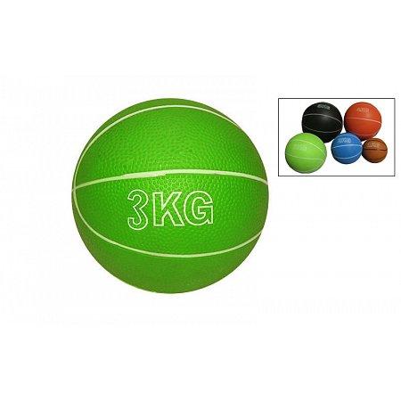 Мяч медицинский (медбол) SC-8407-3 3кг (верх-резина, наполнитель-песок, d-13см,цвета в ассортименте)