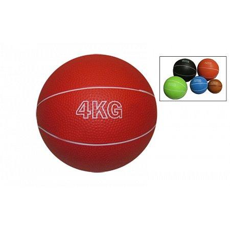 Мяч медицинский (медбол) SC-8407-4 4кг (верх-резина, наполнитель-песок, d-17см,цвета в ассортименте)