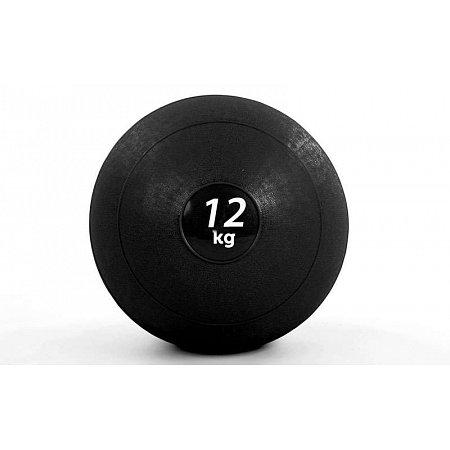 Мяч медицинский (слэмбол) SLAM BALL FI-5165-12 12кг (резина, минеральный наполнитель, d-23см, черный