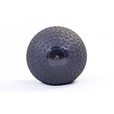 Мяч медицинский (слэмбол) SLAM BALL RI-7729-10 10кг (PVC, минеральный наполнитель, d-23см, черный)