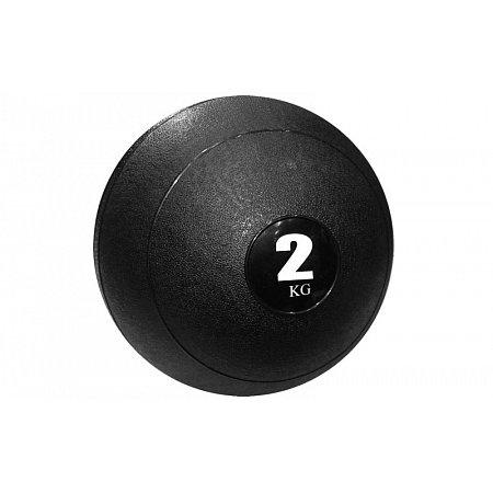 Мяч медицинский (слэмбол) SLAM BALL SBL001-2 2кг (верх-резина, наполн-песок, d-23см, цвета в ассорт)