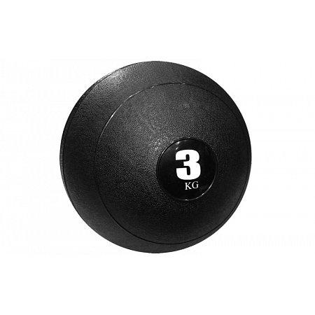 Мяч медицинский (слэмбол) SLAM BALL SBL001-3 3кг (верх-резина, наполн-песок, d-23см, цвета в ассорт)