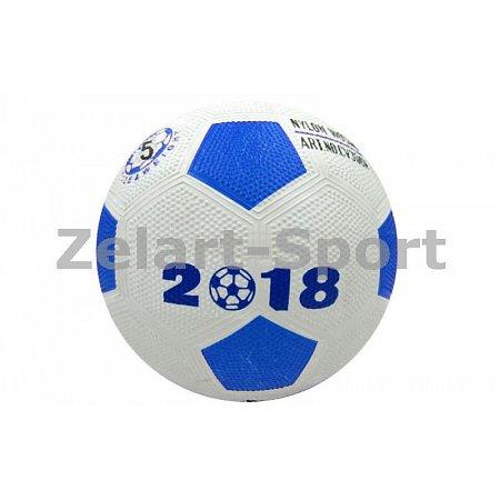 Мяч резиновый Футбольный №5 CV305N WORD CUP 2018 (резина, вес-300г, цвета в ассортименте)