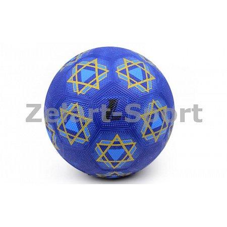 Мяч резиновый Футбольный №5 S028 (резина, вес-420-450г, синий)