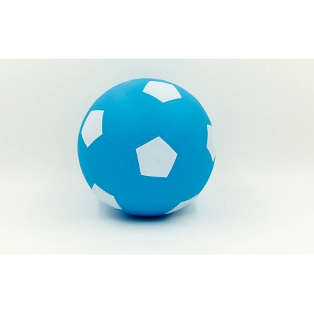 Мяч резиновый Футбольный FB-5652-2 (PVC, вес-200г, d-22см, голубой-белый)MF-02
