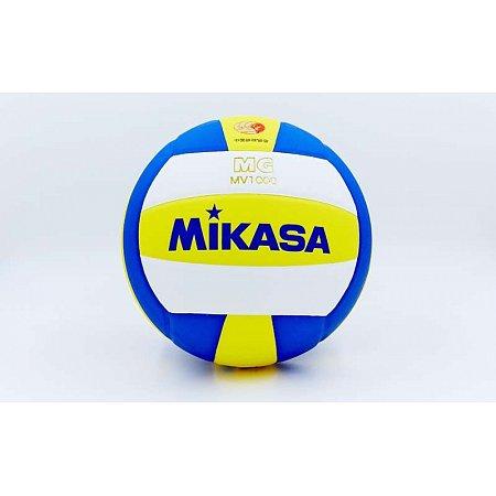 Мяч волейбольный Клееный PU MIKASA MV-1000 (PU, №5, 5 сл., клееный)
